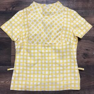 Vintage yellow and white checked matching set